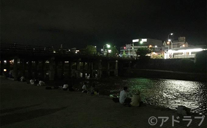 京都ナンパスポット、夜の鴨川